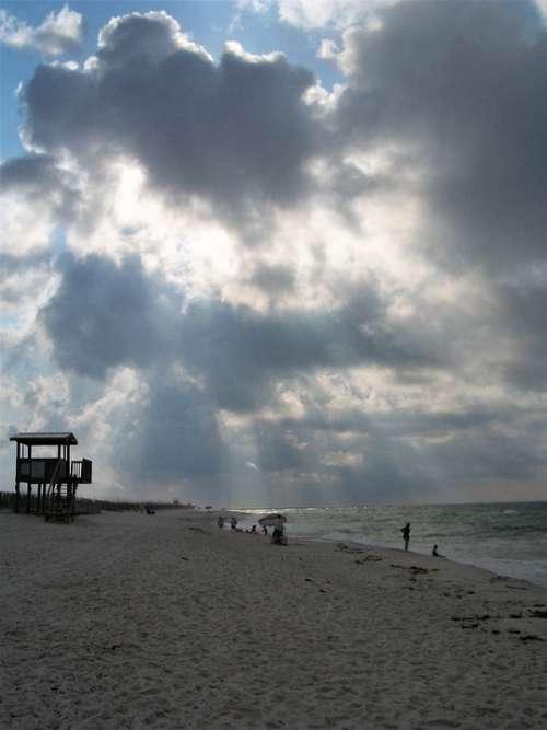Florida Beach Ocean Water Sky Vacation Travel