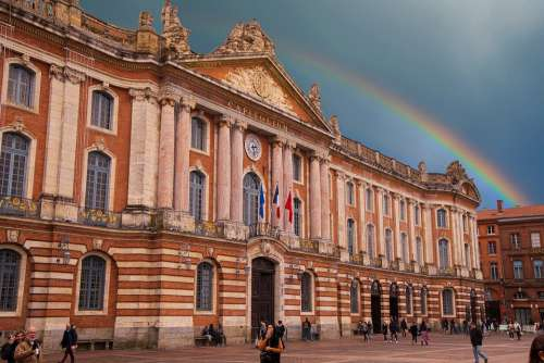 Toulouse Tolosa Occitanie Bricks Red Orange Brown