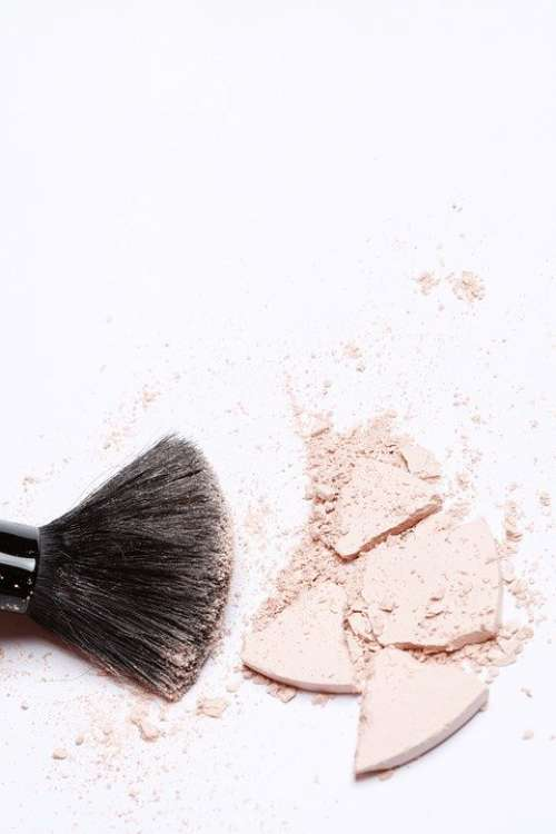 Brush Makeup Powder Cosmetics Apply Skincare