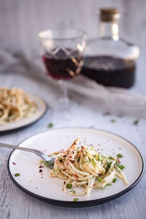 Pasta Basil Flavor Food Natural