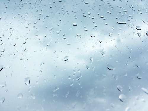 Rain Windows Window Wet Drops Water Glass