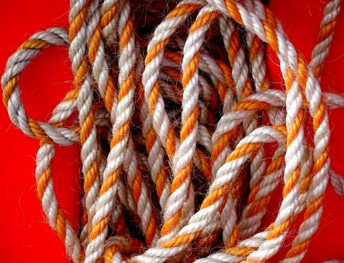 Orange And White Colored Rope