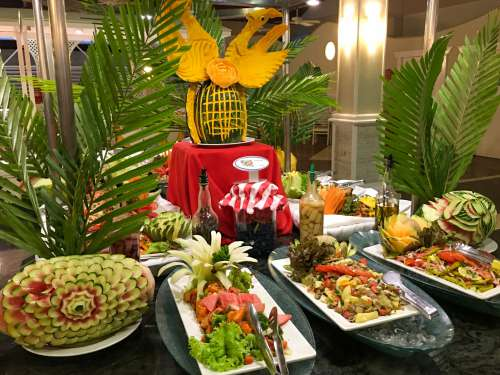 Food On A Buffet Table