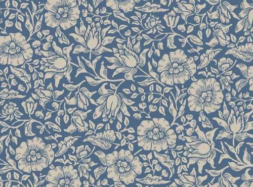 Floral Vintage Wallpaper Pattern