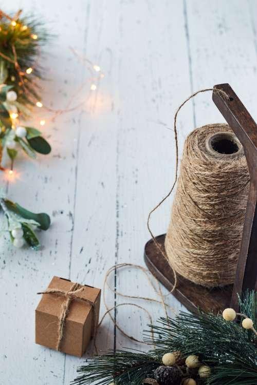 crafts holiday background yarn rustic