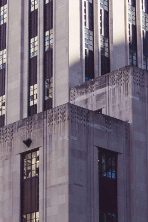 city building exterior urban windows