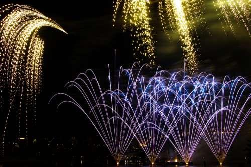 fireworks background display sky festival