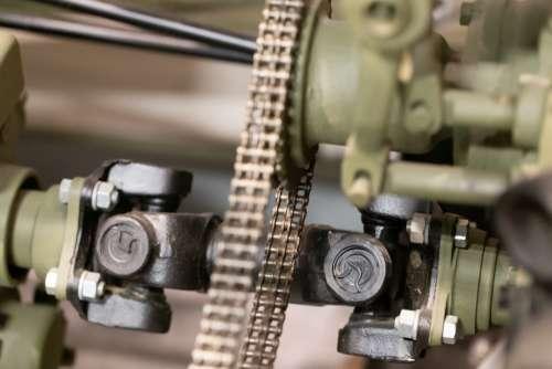 chain machine metal link gear