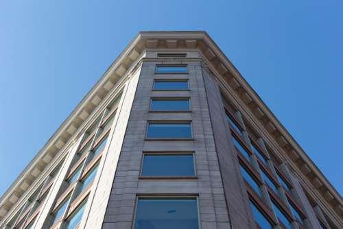 building perspective city sky exterior