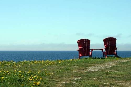 chairs water view adirondack ocean