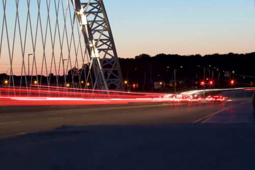 motion city lights traffic bridge