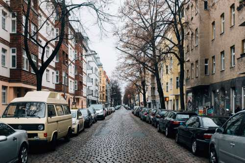 A Cobble Stone Residential Street Photo