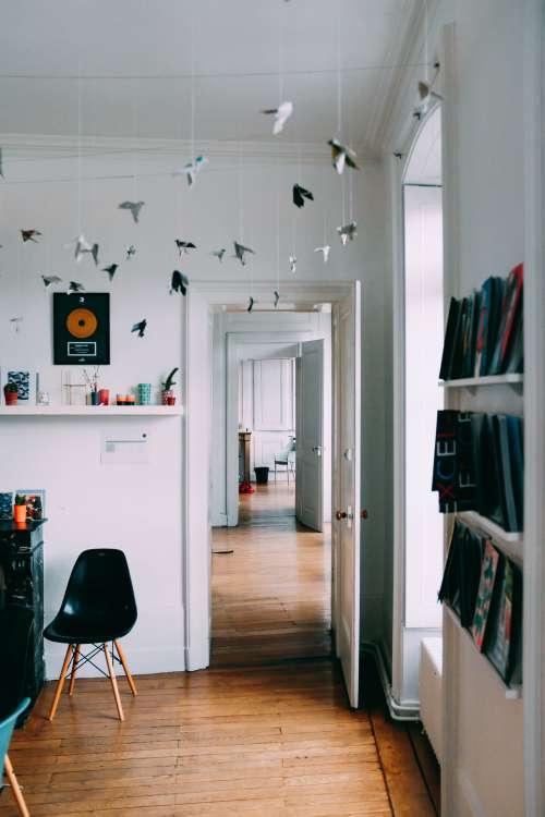 Open Doors And Paper Cranes Photo