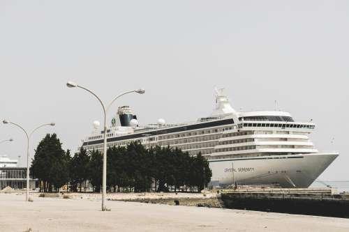 Cruise Ship Docks Photo