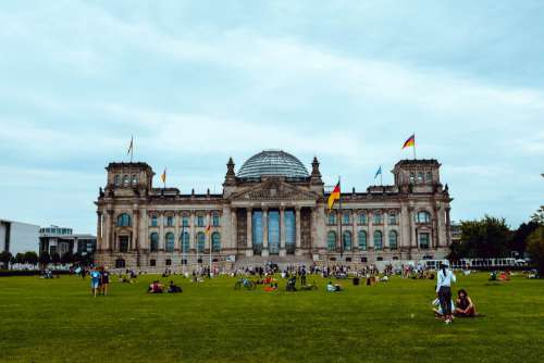 Crowds In Front Of Reichstag Photo