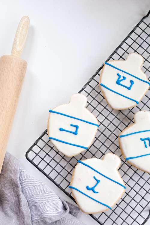 Homemade Hanukkah Cookies Photo