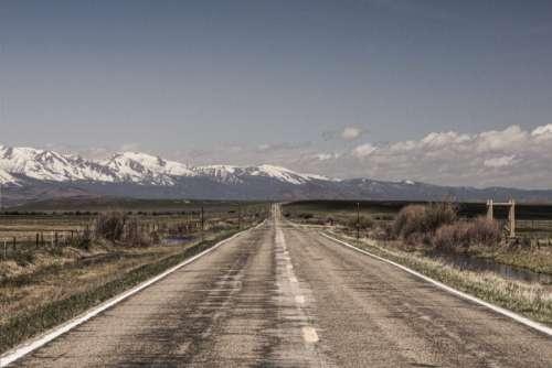 Empty Open Road Free Photo