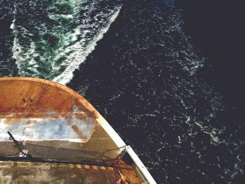Aerial Boat Sea Free Photo