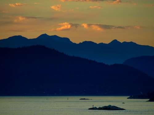 Golden Mountain Sunset Free Photo