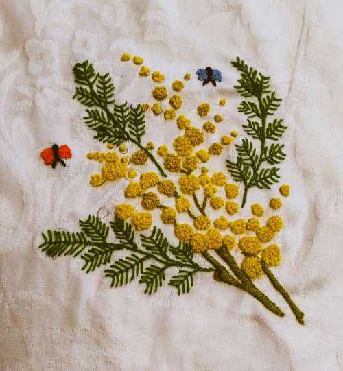 Heritage Wattle Embroidery