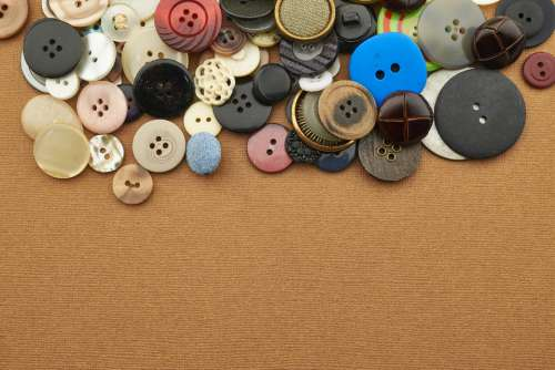 sewing buttons background assortment variety
