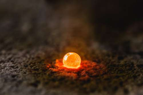 Molten Metal Drop Photo