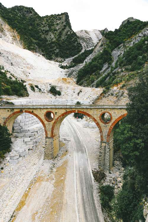 Small Arched Mountain Bridge Photo
