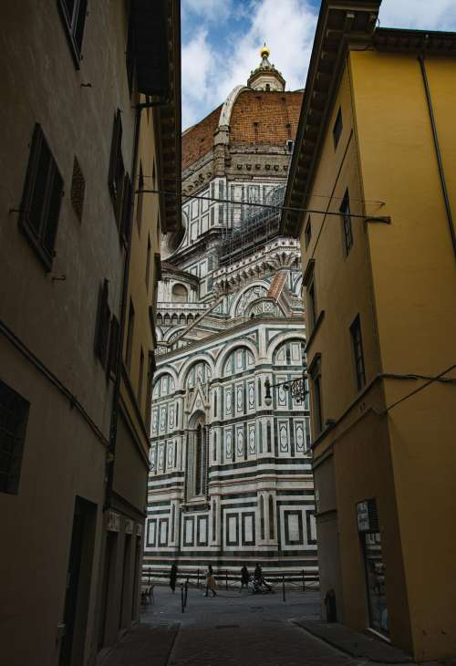 Narrow View Of The Duomo Cathedral Photo