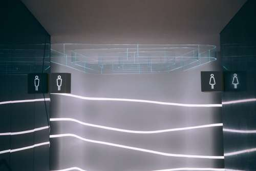 A Modern Bathroom Entrance Photo