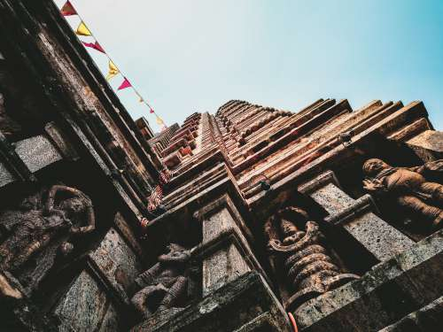 Building With Buddhist Statues Photo