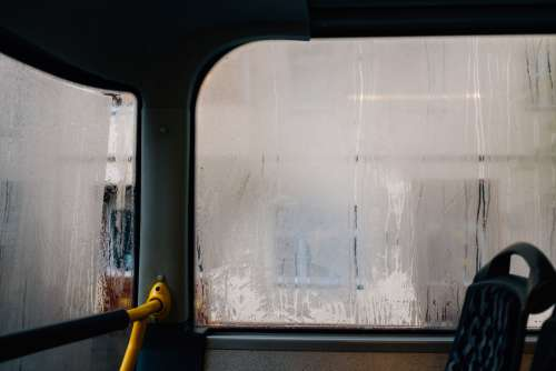Steamed Up Bus Windows Photo
