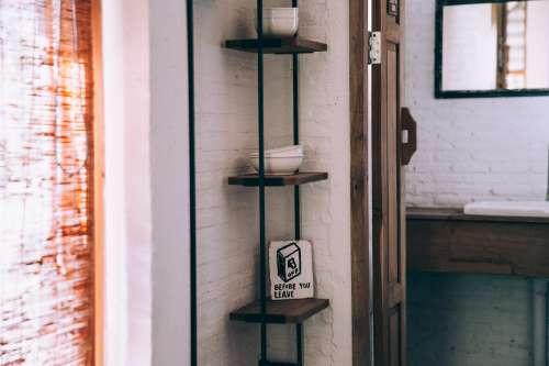 Minimalist Wooden Shelves Photo