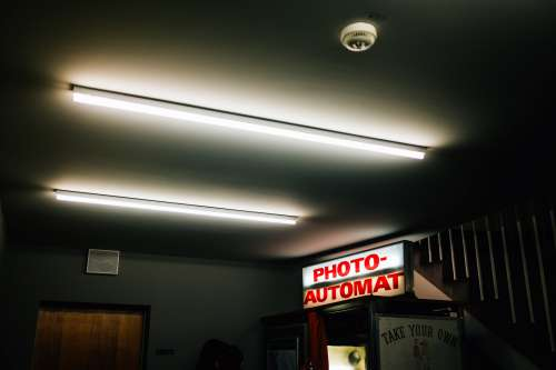 Neon Sign Of A Photo Booth Photo