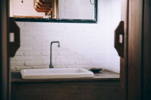 Rustic Bathroom Sink Photo