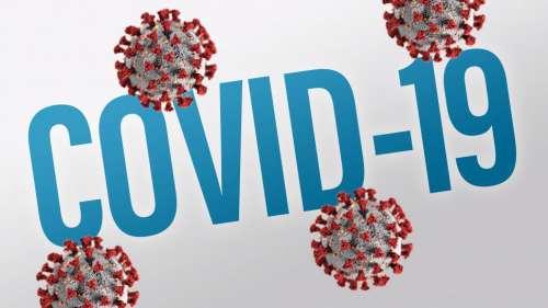 COVID-19 Coronavirus Text and Virus