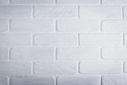 Close up of white brick wall