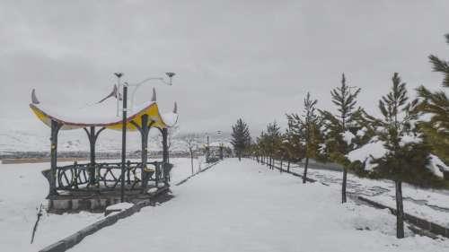 Urban in Tafresh City - Empty Roads in Snow