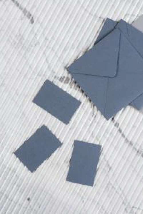 Blue business card mockup