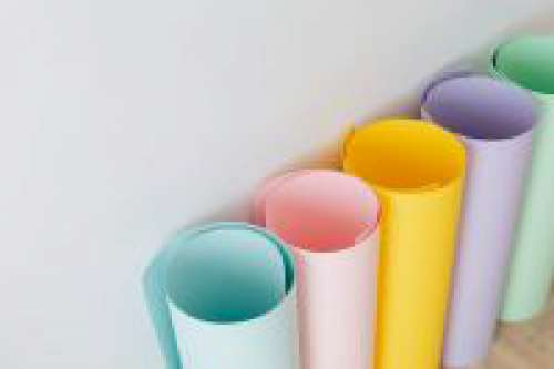 Colored paper rolls