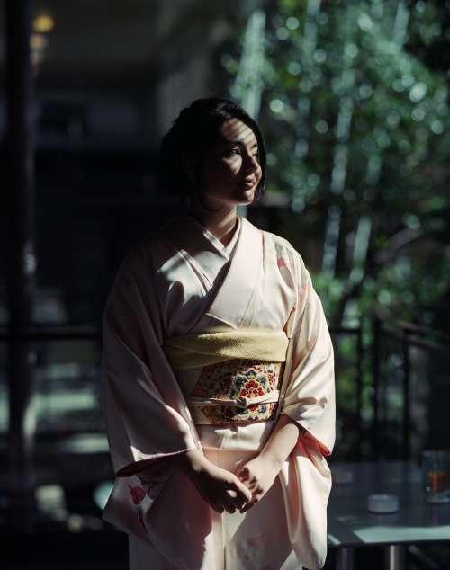 Evening in kimono