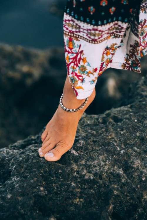 Walking Feet Water Free Photo