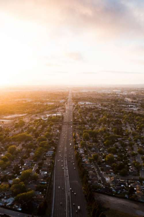 Aerial View Road Free Photo