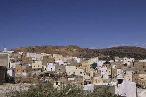Village of Bitalil, Morocco, (High angle view)