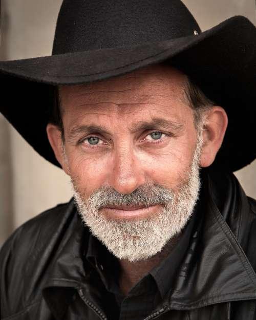 cowboy man person hat beard