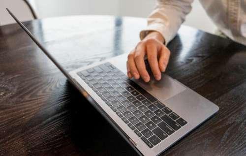 laptop typing working developer designer