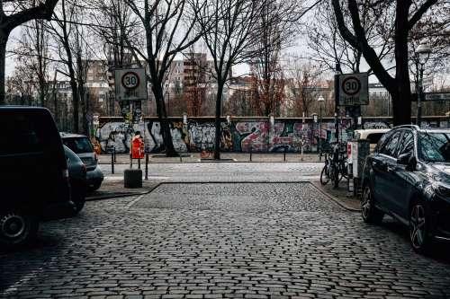 Brick Walls Covered In Graffiti Photo