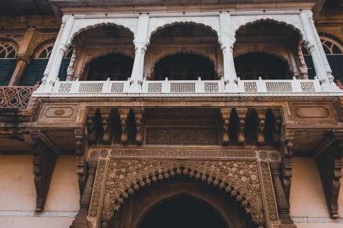 White Painted Balcony Railing Photo