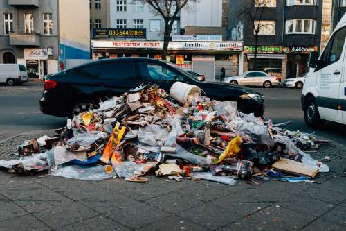 Garbage Piled In The City Photo
