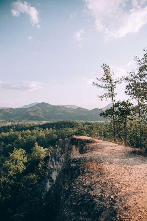 Rocky Cliff Plateau Vantage Point Photo