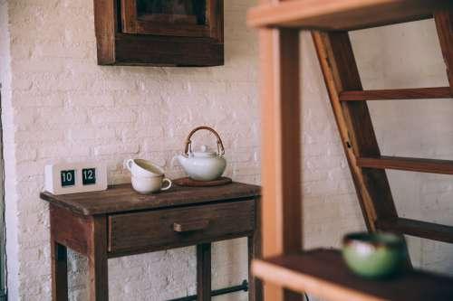 Side Table Tea Service Photo